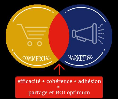 Infographie leviers commercial et marketing