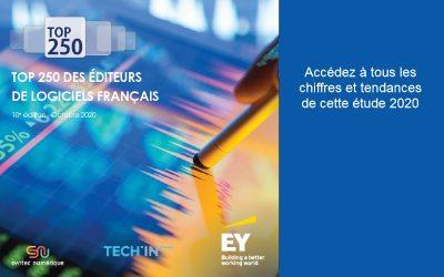 Tendances et chiffres clés 2020 du marché de l'IT-Numérique : TOP 250 des éditeurs de logiciels français SYNTEC et EY